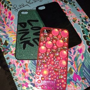 Bundle of 3 VS PINK iPhone 5 cases.